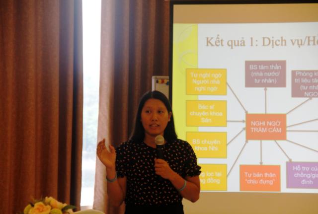 Thạc sỹ Phạm Kiều Linh (CCIHP) trình bày đánh giá nhanh về Trầm cảm sau sinh: ai? đang làm gì?