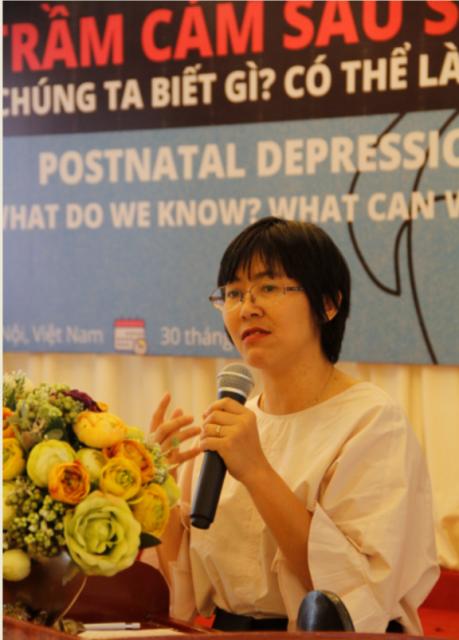 Bà Hoàng Tú Anh - Phó giám đốc CCIHP phát biểu khai mạc