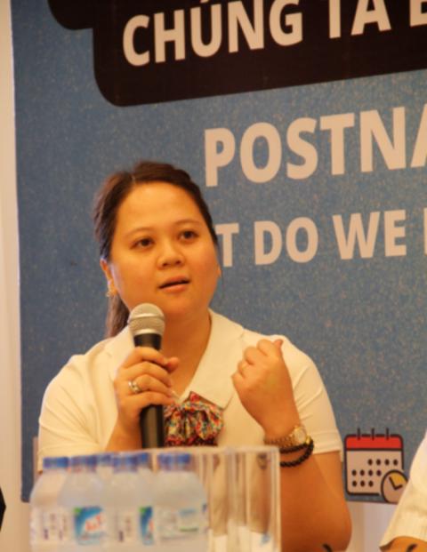 Bà Đặng Cẩm Tú - phó giám đốc Trung tâm Chăm sóc sức khỏe phụ nữ, Hội liên hiệp phụ nữ Việt Nam
