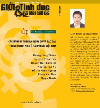 Các hành vi tình dục nguy cơ và bắc cầu trong thanh niên ở Hải Phòng, Việt Nam - Số 15/2008