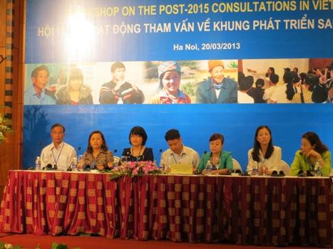 CCIHP tham gia vào quá trình tham vấn quốc gia về Chương trình phát triển sau năm 2015 tại Việt Nam
