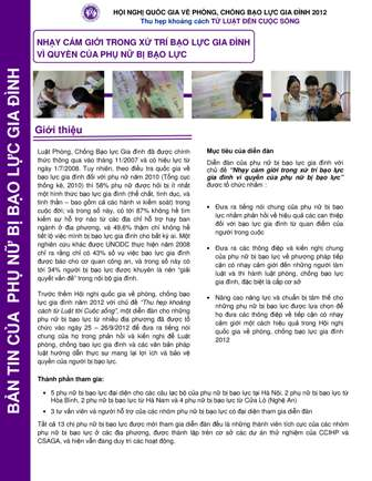 Bản tin của phụ nữ bị bạo lực gia đình