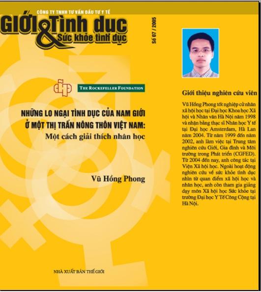 Những lo ngại tình dục của nam giới ở một thị trấn nông thôn Việt Nam: Một cách giải thích nhân học, số 7, năm 2005