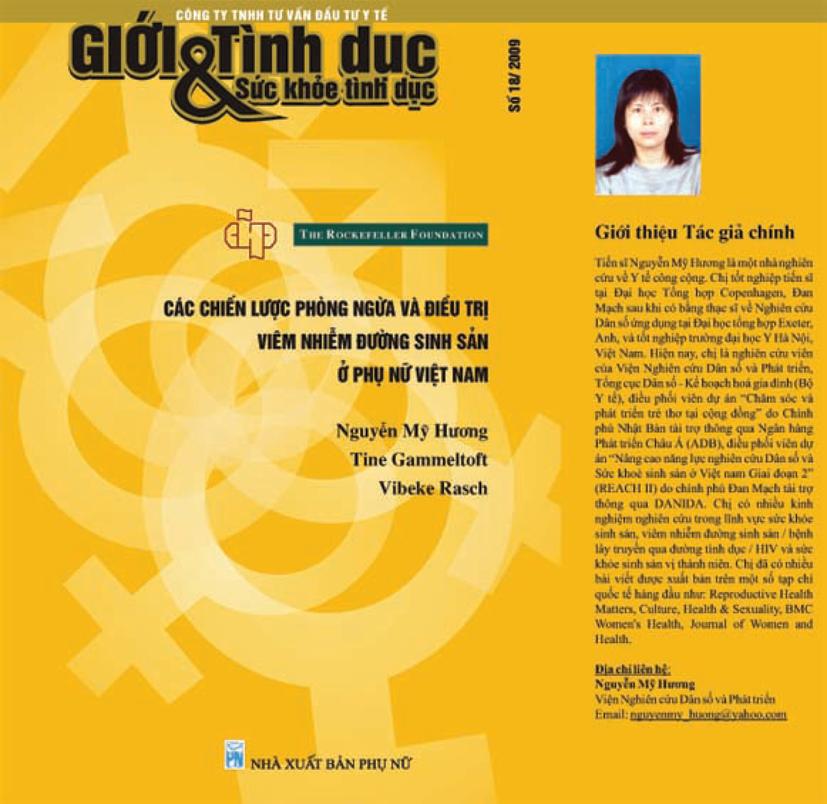 Chiến lược phòng ngừa và điều trị viêm nhiễm đường sinh sản ở Phụ nữ Việt Nam, số 18, năm 2010