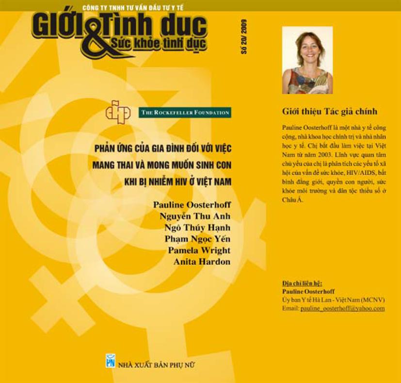 Phản ứng của gia đình đối với việc mang thai và mong muốn sinh con khi bị nhiễm HIV ở Việt Nam, số 20, năm 2010