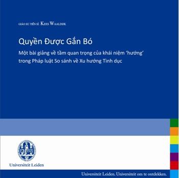 """Giới thiệu sách """"Quyền được gắn bó - Một bài giảng về tầm quan trọng của khái niệm 'hướng' trong Pháp luật So sánh về Xu hướng Tình dục"""""""
