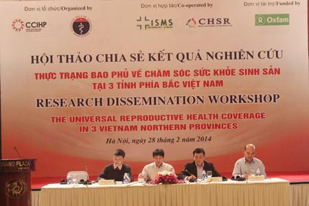 Chia sẻ kết quả nghiên cứu về thực trạng sức khỏe sinh sản tại Lạng Sơn, Hưng Yên và Hòa Bình