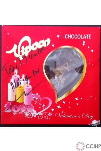 chocolate trái tim