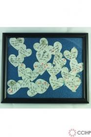 khung ảnh những trái tim