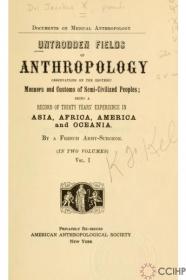untrodden field of anthropology (1900)