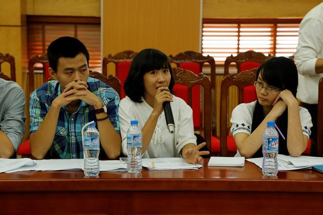 Tình nguyện viên CCIHP tham gia đóng góp ý kiến tại Tọa đàm: Đối thoại chính sách về dự thảo Luật Dâ