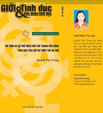 Nữ tính và sự thể hiện chủ thể trong đời sống Tình dục của nữ trí thức trẻ Hà Nội, số 16, 2008
