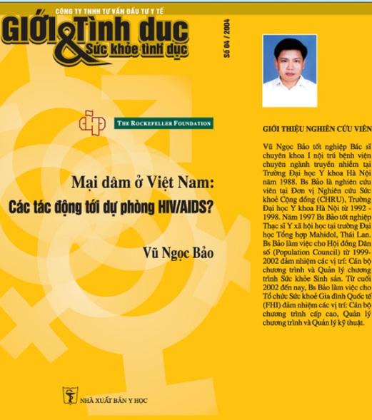 Mại dâm ở Việt Nam: Các tác động tới dự phòng HIV/AIDS?, số 4, năm 2005