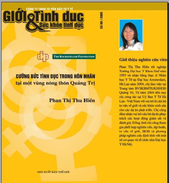 Cưỡng bức tình dục trong hôn nhân tại một vùng nông thôn Quảng Trị, số 9, năm 2005