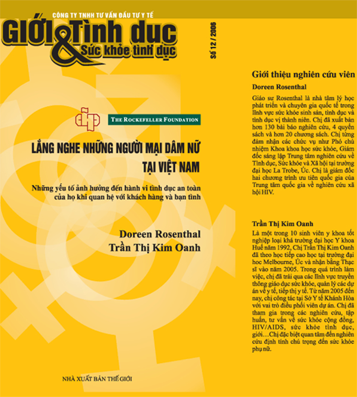 Lắng nghe những người mại dâm nữ tại Việt Nam, số 12, năm 2006