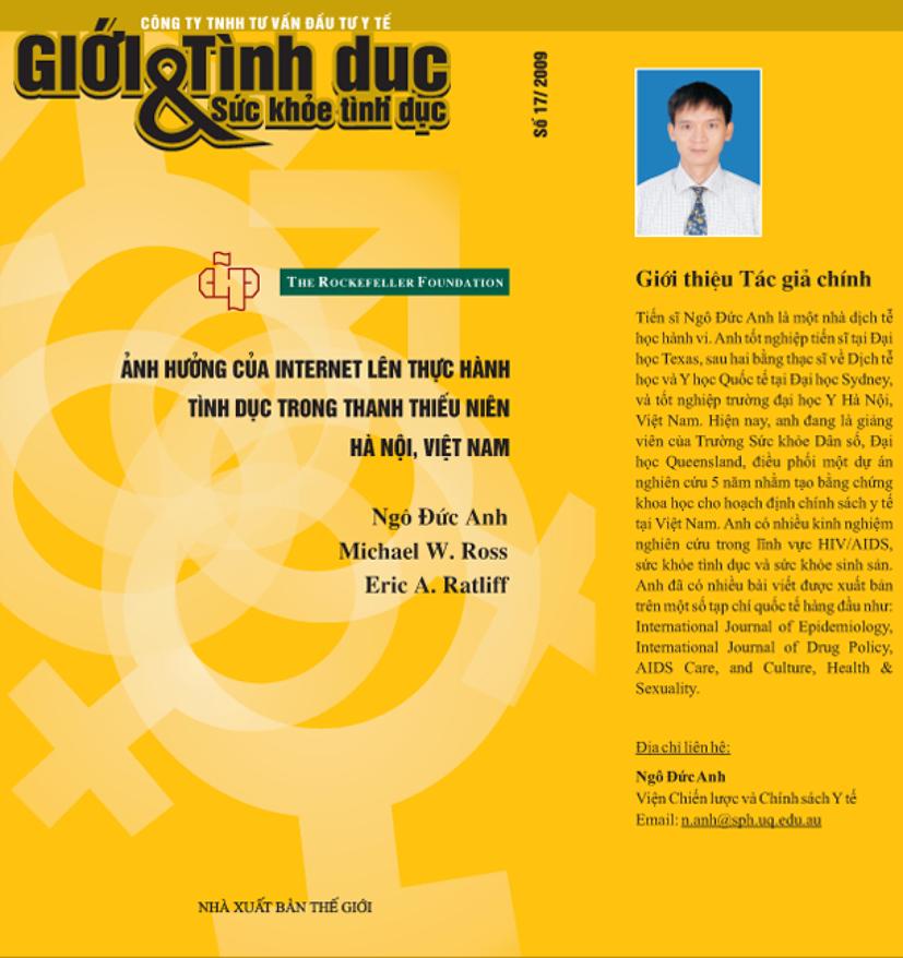Ảnh hưởng của Internet lên thực hành tình dục trong thanh thiếu niên Hà Nội, Việt Nam, số 17, năm 2009