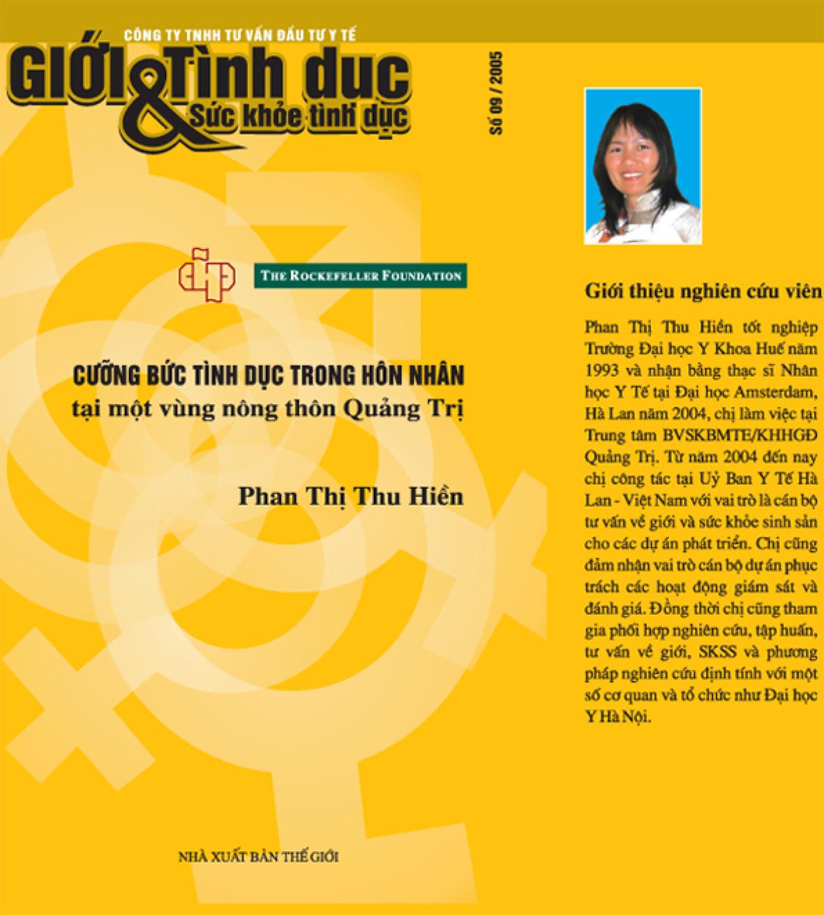 Cưỡng bức tình dục trong hôn nhân tại một vùng nông thôn Quảng Trị, số 9, 2005
