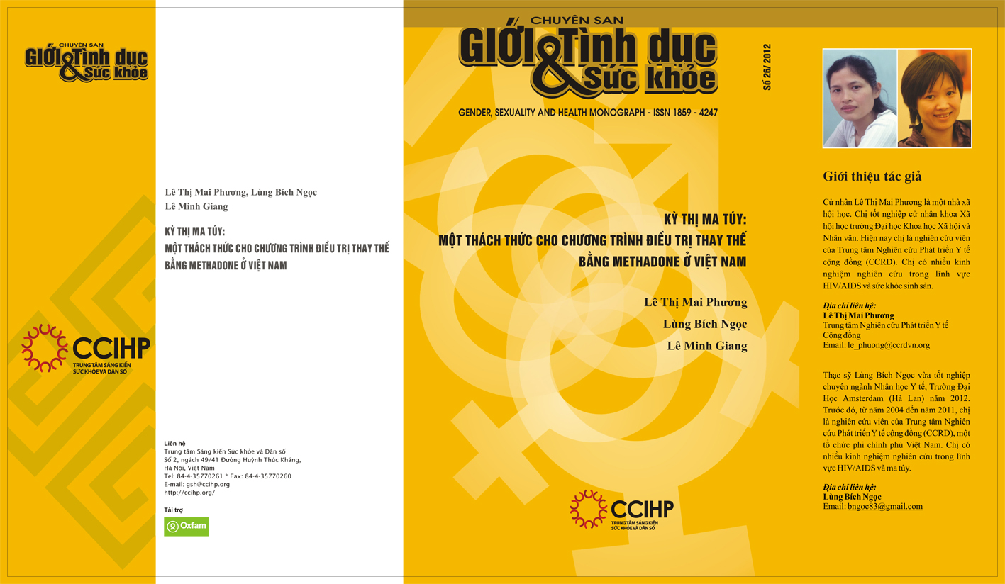 Kỳ thị ma túy: Một thách thức cho chương truờng điều trị thay thế bằng Methadone ở Việt Nam, số 26, năm  2012